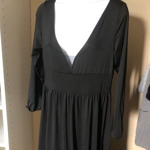 Black maternity gown